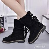 雪地靴女冬季韓國學生女靴厚底中筒保暖棉靴舒適短靴靴子 【東京衣秀】
