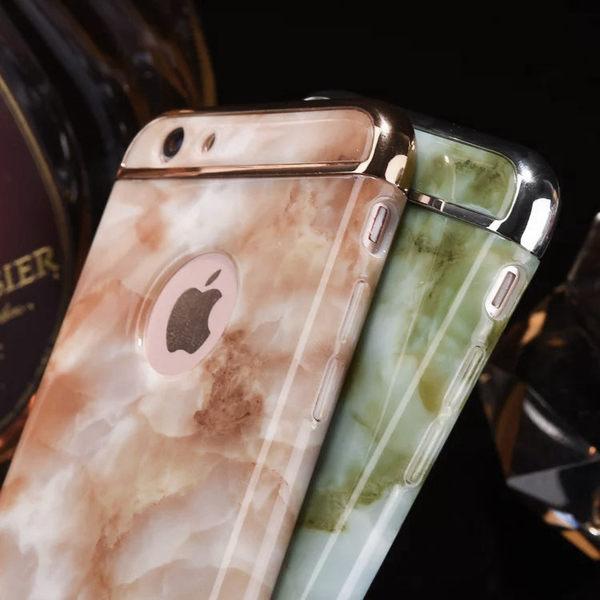 [24hr-現貨快出] 大理石紋 手機殼 硬殼 三合一 創意 設計蘋果 iphone 6 6s 7 plus i7 防摔 防撞 保護殼