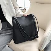 水桶包 高級感洋氣包包女2020新款大容量簡約單肩時尚質感百搭斜挎水桶包【免運】