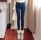 牛仔褲女-韓版顯瘦高腰彈力大碼小腳鉛筆牛仔長褲 衣普菈