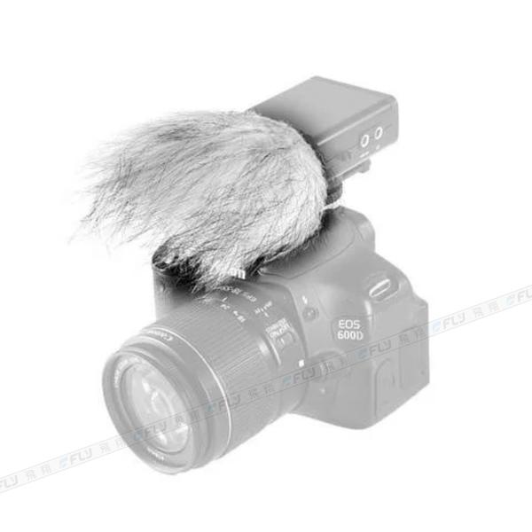 《飛翔3C》BOYA 博雅 BY-WS9 無線麥克風防風毛套 80x40mm│公司貨│相機話筒用