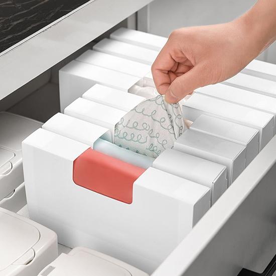 抽取盒 整理盒 抽取式 折疊式 小 收納盒 置物盒 分類 收納 DIY 折疊抽取收納盒【P591】生活家精品