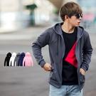 外套 舒適透氣全素面薄款連帽外套【NB0912J】