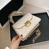 (快出)手提包 夏季百搭ins小包包女流行新款潮時尚鍊條斜背網紅手提小方包
