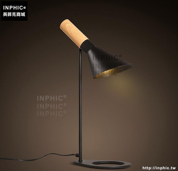INPHIC- 北歐創意鐵藝檯燈現代簡約臥室床頭燈時尚個性鐵藝檯燈-A款_S197C