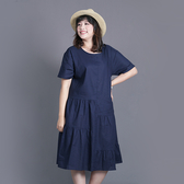 C19279-日式寫意麻棉輕洋裝