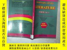 二手書博民逛書店ORDINARY罕見LEVEL LITERATURE FORM 3 4 普通文學表格34 16開 01Y261