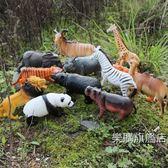 動物模型好大號野生動物玩具模型12套裝野豬猩猩禮物兒童玩具wy