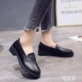 樂福鞋 英倫風女鞋黑色小皮鞋簡約百搭學生平底單鞋夏秋季新款樂福鞋 QG8020『優童屋』