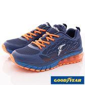 【GOODYEAR】緩震氣墊運動鞋-73156藍橘