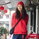 [第2件1折]Levis 女款 帽T / 紅色