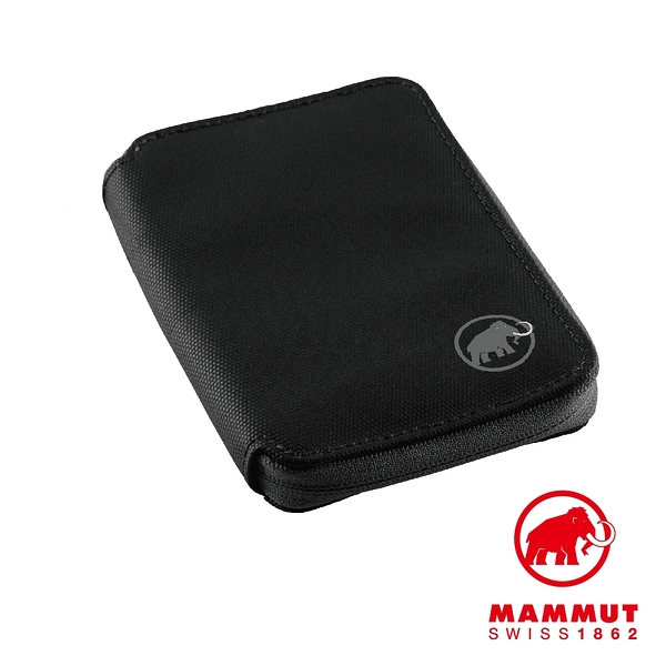 Mammut 長毛象 Zip Wallet 休閒短夾 黑色 #2520-00690
