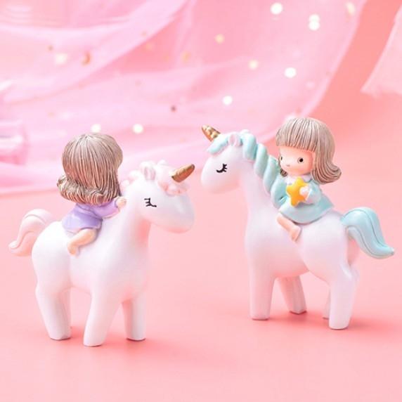 CARMO獨角獸女孩微景觀/公仔 盆栽裝飾【B05002】