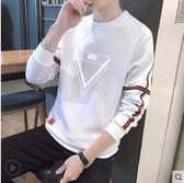 男士T恤長袖潮流春秋款帥氣體恤韓版修身學生ins超火的上衣服衛衣