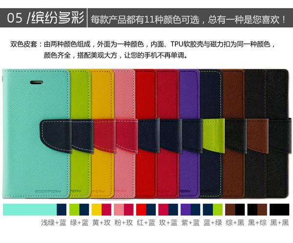 88柑仔店~韓國正品 goospery 蘋果 iphone 6Splus 6plus  皮套手機套撞色支架保護套 5.5吋
