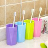 ✭慢思行✭ 【X48】簡約八角型漱口杯 糖果色 水杯 茶杯 居家 廚房 洗漱 加厚 衛浴 兒童 刷牙