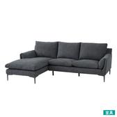 ◎布質右躺椅L型沙發 KF2037 DGY NITORI宜得利家居