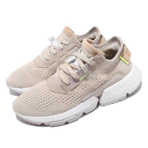 adidas 慢跑鞋 POD-S3.1 W 米白 白 透氣編織鞋面 P.O.D System 全新系列 女鞋 運動鞋【PUMP306】 CG6188