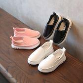 女童懶人鞋   兒童豆豆鞋女童寶寶小白鞋兒童皮鞋男童一腳蹬懶人鞋  寶貝計畫