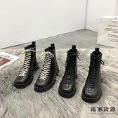 馬丁靴女加絨秋冬靴子百搭潮英倫風短靴【毒家貨源】