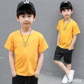 童裝2019新款男童夏季純棉短袖套裝洋氣中大兒童夏裝短袖兩件套潮 QG24186『Bad boy時尚』