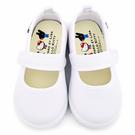 童鞋城堡-麗莎與卡斯伯xKitty 中童 素色款休閒鞋(室內鞋) GK7958-白