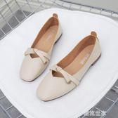 奶奶鞋平底百搭簡約韓版豆豆淑女鞋子單鞋女2019春款新款夏季潮鞋『潮流世家』