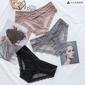 性感交叉綁帶鏤空內褲蕾絲低腰純棉檔三角褲【聚寶屋】