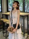 2019新款春夏韓版超仙的裙子長裙吊帶裙女中長款顯瘦蛋糕裙洋裝  韓語空間