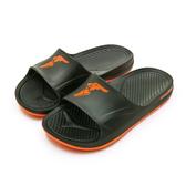 LIKA夢 GOODYEAR 固特異 防水輕量彈力休閒運動拖鞋 乘風踏浪系列 黑橘 93770 男