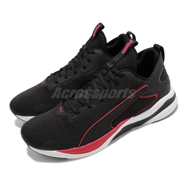 Puma 慢跑鞋 Softride Rift Tech 黑 紅 男鞋 輕量避震 運動鞋【ACS】 19373701