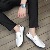 豆豆鞋2019春季百搭豆豆鞋一腳蹬懶人鞋休閒皮鞋男韓版潮流透氣小白鞋潮 【新品推薦】