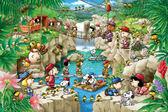 【拼圖總動員 PUZZLE STORY】史努比-探險隊 日本進口拼圖/Epoch/Snoopy/1000P