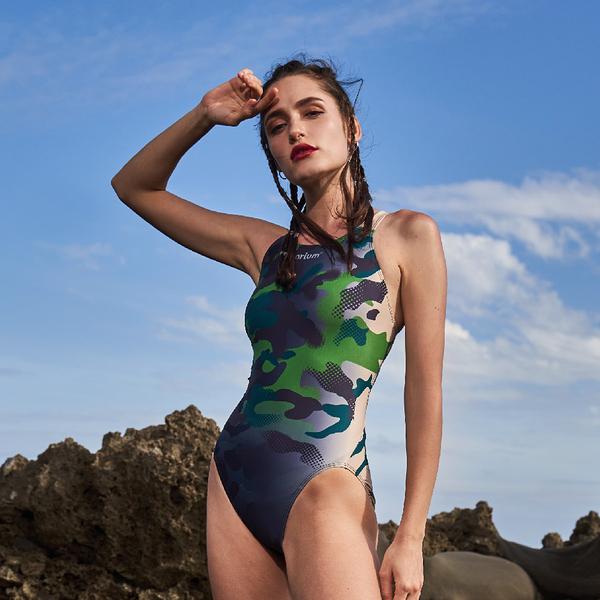 ≡MARIUM≡ MAR-20004W 大女競賽型泳裝 - 渲染迷彩
