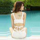 泳衣女 泡溫泉韓國性感顯瘦分體遮肚三角鋼托小胸聚攏保守比基尼  無糖工作室