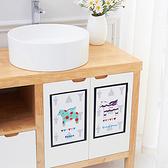 靜電貼 廚房 防霉貼 居家 浴室 防水 吸濕 餐墊 水槽 桌墊 自黏 卡通靜電吸水貼【E076】慢思行