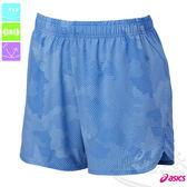 ASICS亞瑟士 女慢跑短褲(天藍雲朵) 路跑褲 運動短褲 後腰口袋 2015新款