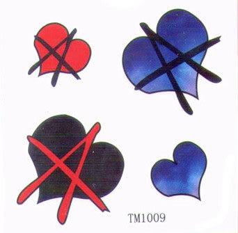 薇嘉雅 愛心 超炫圖案紋身貼紙 TM1009