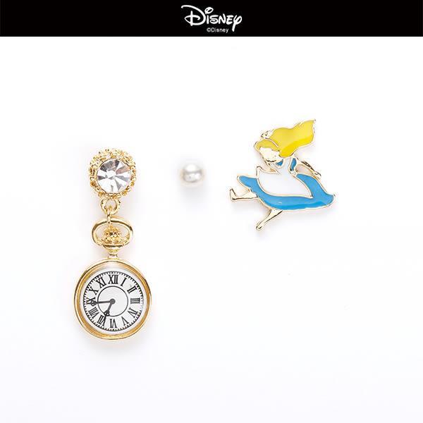 愛麗絲時鐘珍珠組合耳環