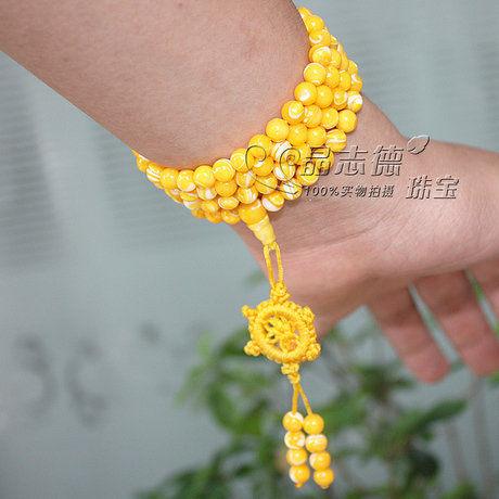 黃金硨磲108顆佛珠手鏈