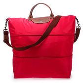LONGCHAMP摺疊兩用旅行袋(絳紅色)480204-270