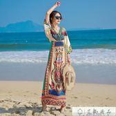 民族風長裙連身裙海邊沙灘裙