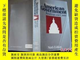 二手書博民逛書店American罕見Government Readings an