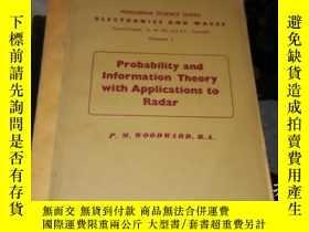二手書博民逛書店概率與信息論罕見英文版Y16186 P.M.WOODWARD,
