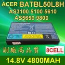 ACER 8芯 BATBL50L8H 高品質 電池 Aspire5652WLMI5680 5683WLMI 5634WLMI 5650 5684WLMI 9110 9120
