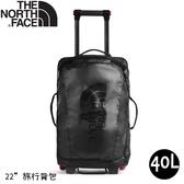 【The North Face 40L ROLLING THUNDER 22吋 旅行背包《黑》】3C94/拉桿式行李箱/登機箱