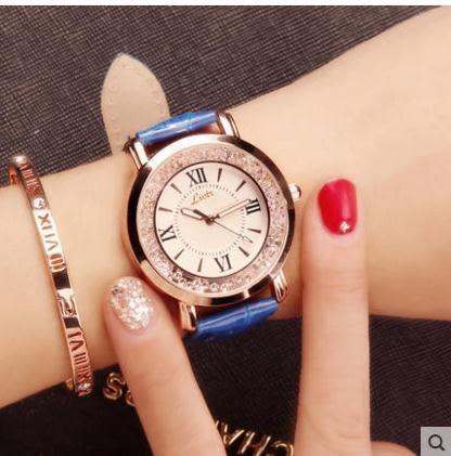chic風女士手錶女學生韓版簡約潮流休閒大氣水鑽防水手 伊蒂斯女裝