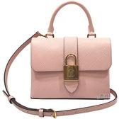 【Louis Vuitton 路易威登】M52879 LOCKY BB EPI皮革手提/斜背兩用包(粉色)