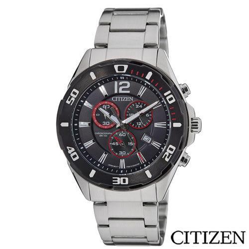 CITIZEN星辰 經典賽車概念三眼計時腕錶 AN7110-56F