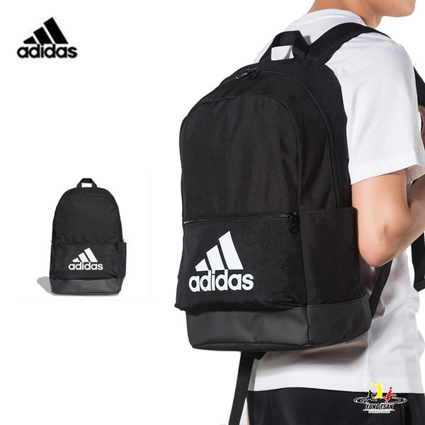 Adidas 黑色 後背包 運動 休閒 筆電包 旅行包 大學包 防水底 耐磨 運動後背包 DT2628